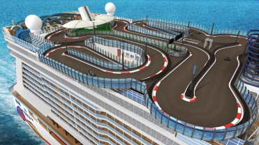 norwegian cruises encore cruise ship race track