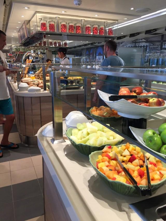 Holland America Statendam cruise ship buffet salad bar