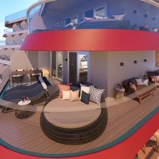 Carnival Cruises Mardi Gras balcony aft suite