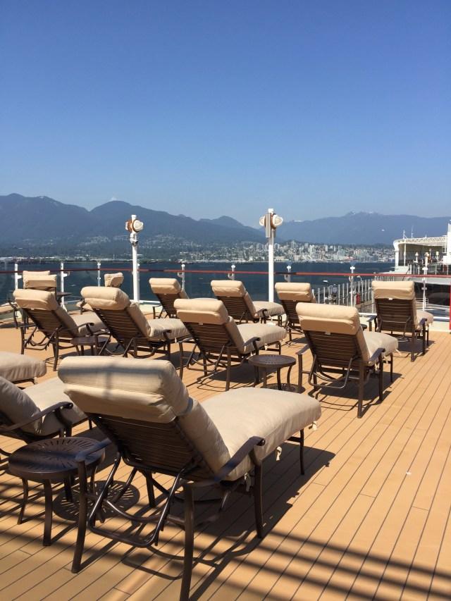 Cunard Queen Elizabeth top deck