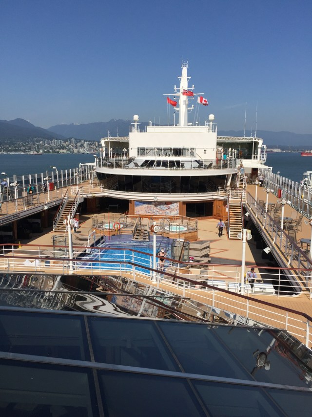 Cunard Queen Elizabeth cruising from Vancouver