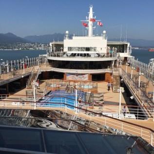 Cunard Queen Elizabeth cruising from Vancouver