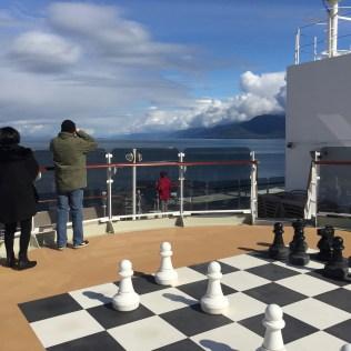 Cunard Queen Elizabeth chess game