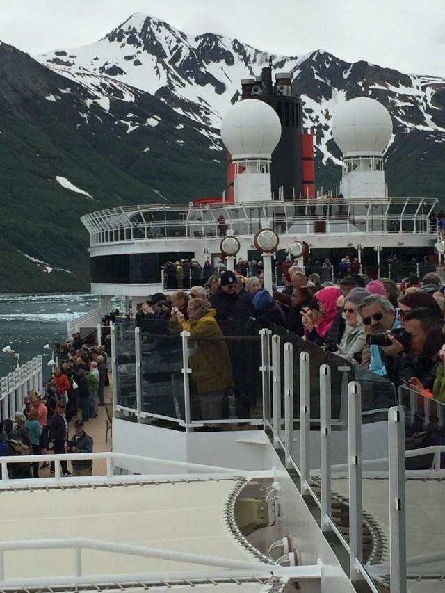 Cunard Queen Elizabeth Hubbard Glacier
