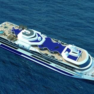 Celebrity Cruises Flora Aerial view