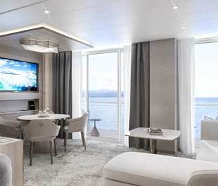 Crystal Cruises Endeavor Penthouse Suite 2