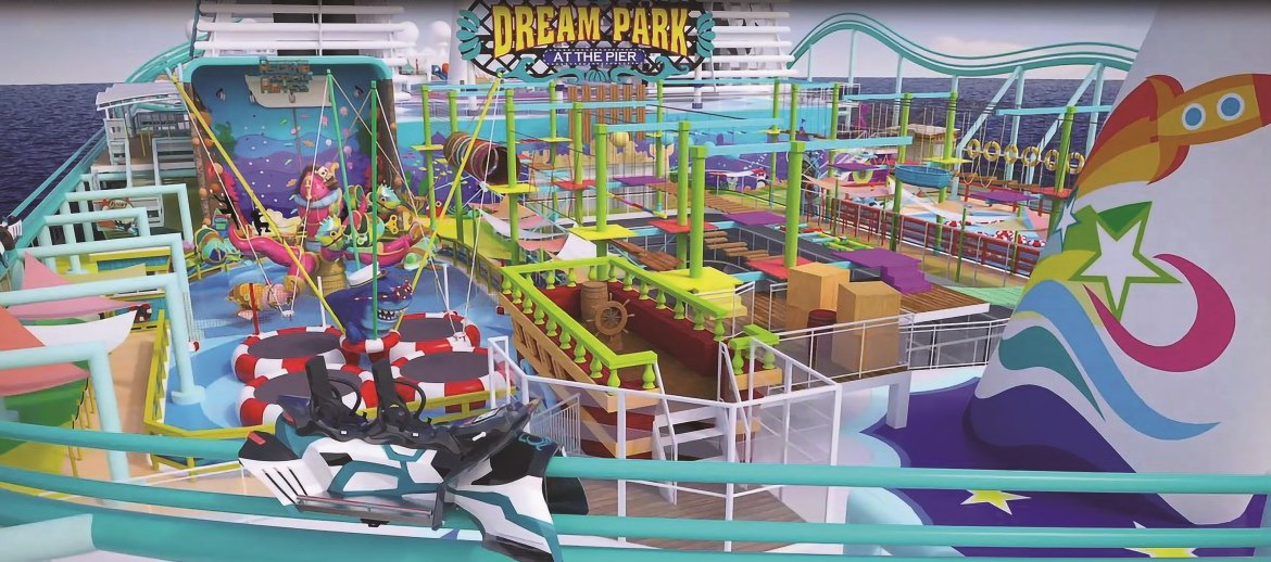 Longest roller coaster at sea launching on Global Dream cruise ship in 2021