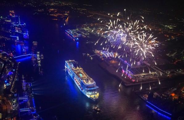 MSC Cruises Grandiosa cruise ship fireworks