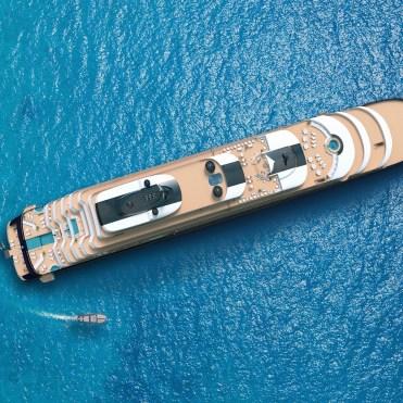 RitzCarltonYachtTop view of yacht