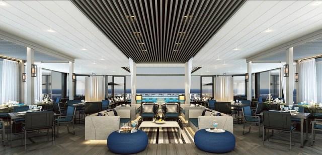 Scenic Eclipse cruise ship al fresco restaurant
