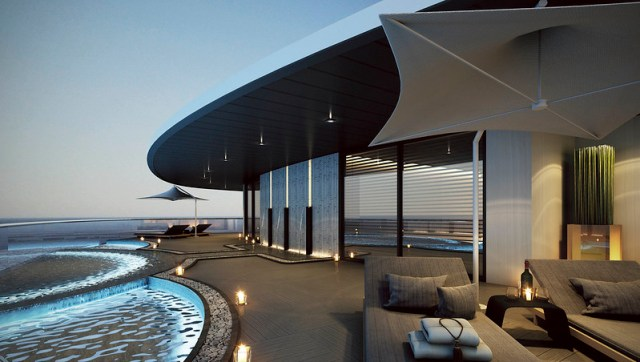 Scenic Eclipse cruise ship pool