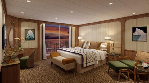 Seabourn Venture Signature Suite Bedroom