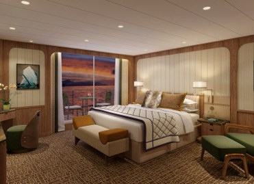 Seabourn Venture Signature Suite Bedroom