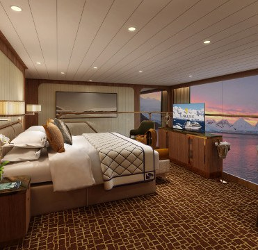 Seabourn Venture Wintergarden Suite Bedroom