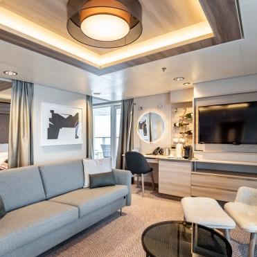 Hurtigruten cruises cruise ship suite sofa