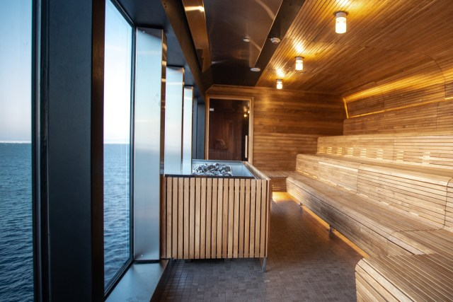 Hurtigruten cruises cruise ship sauna