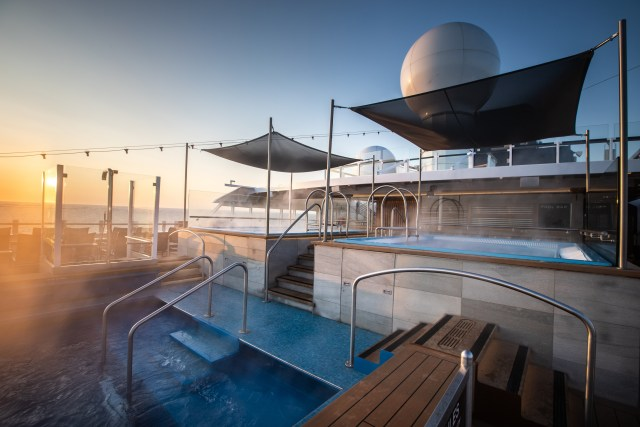 Hurtigruten cruises cruise ship hot tub