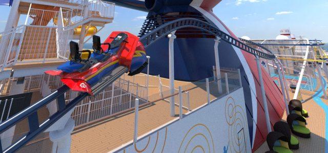 Carnival Mardi Gras Bolt roller coaster