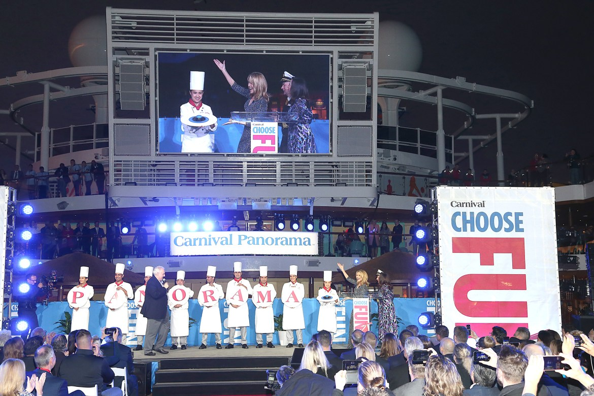 Carnival Cruises Panorama christened by Wheel of Fortune Vanna White