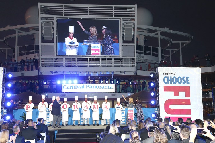 Carnival Cruises Panorama cruise ship Christening Stage