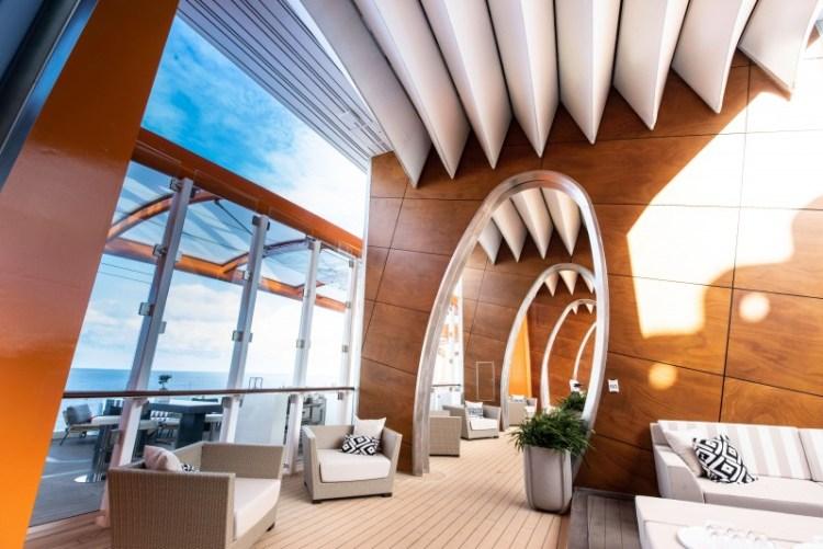 Celebrity Cruises Edge Shaded Lounge Area