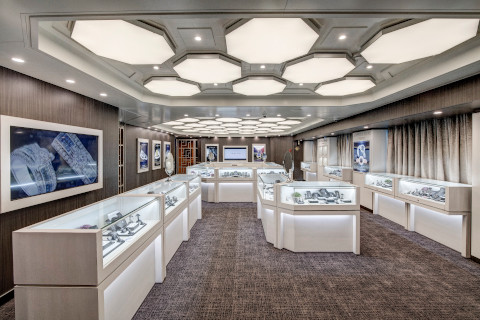 Holland America Noordam jewelry shop