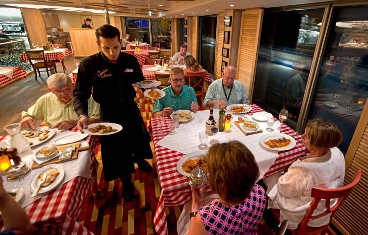 Carnival Sunrise Italian restaurant