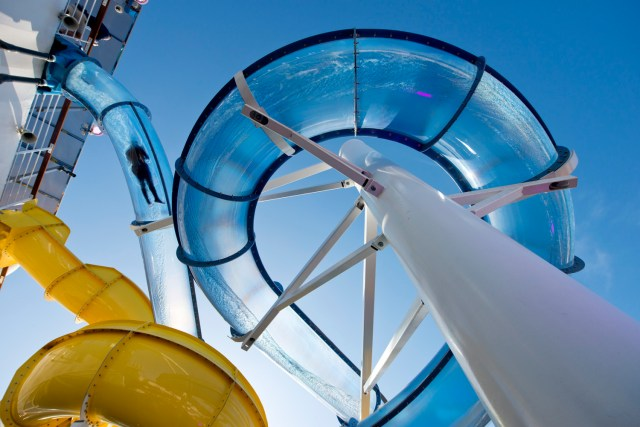 Carnival Cruises Sunrise Cruise ship waterpark waterslides