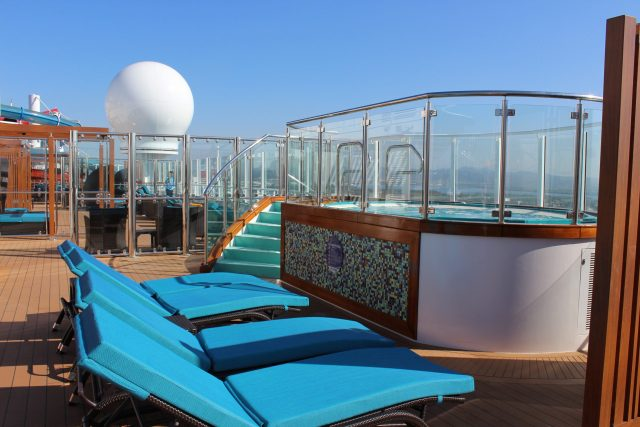 Carnival Cruises Panorama Serenity area hot tub