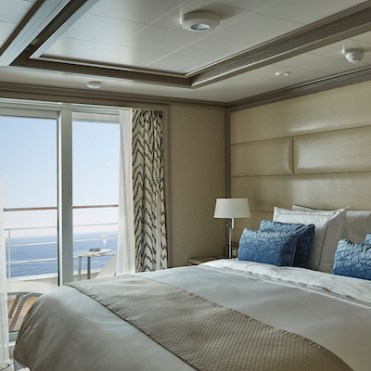 Silversea Cruises Silver Moon and Silver Muse owners suite verandah