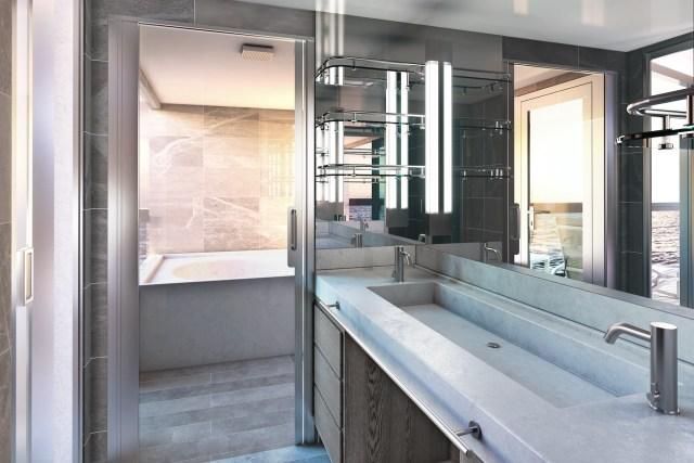 Silversea Origin cruise ship bathroom sink