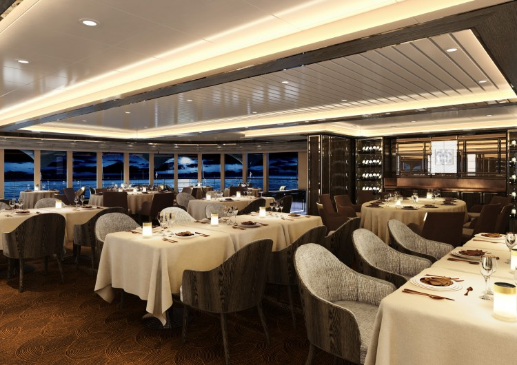 Silversea Silver Moon LaDame Restaurant Seating