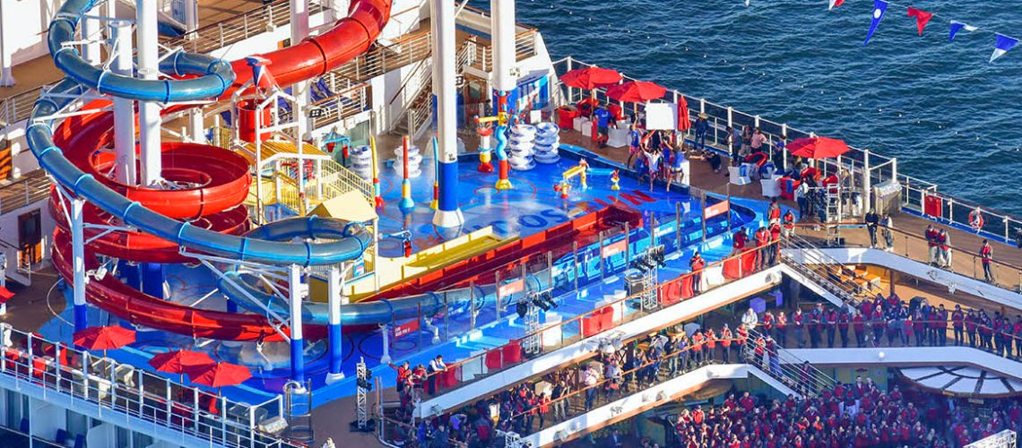 Carnival Cruises Panorama cruise ship top view