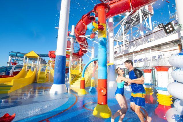 Carnival Cruises Panorama waterpark waterslide