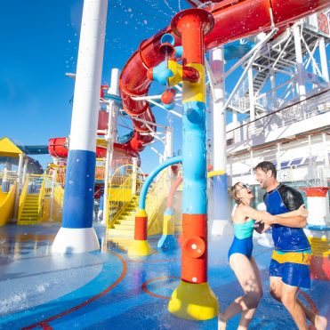 Carnival Cruises Panorama waterpark waterslide