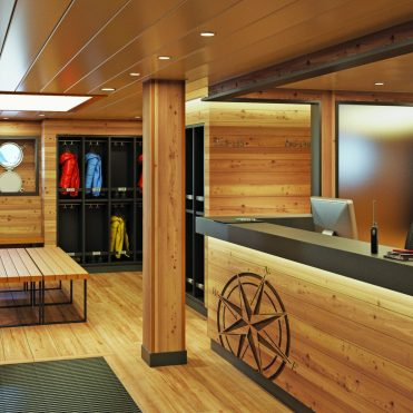 Lindblad Expeditions National Geographic Endurance cruise ship mud room