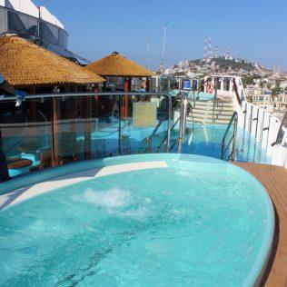 Carnival Cruises Panorama Havana hot tub and pool
