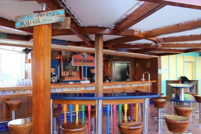 Carnival Cruises Panorama cruise ship main pool Blue Iguana