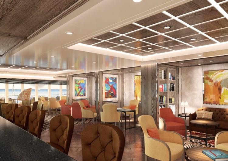 Silversea Cruises Silver Moon Arts Cafe