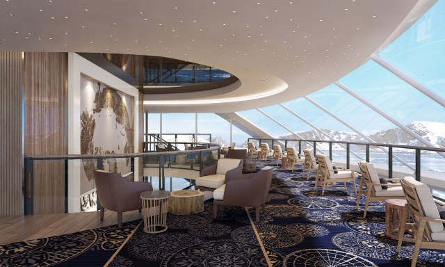 Viking Cruises Expedition Explorers Lounge upper deck