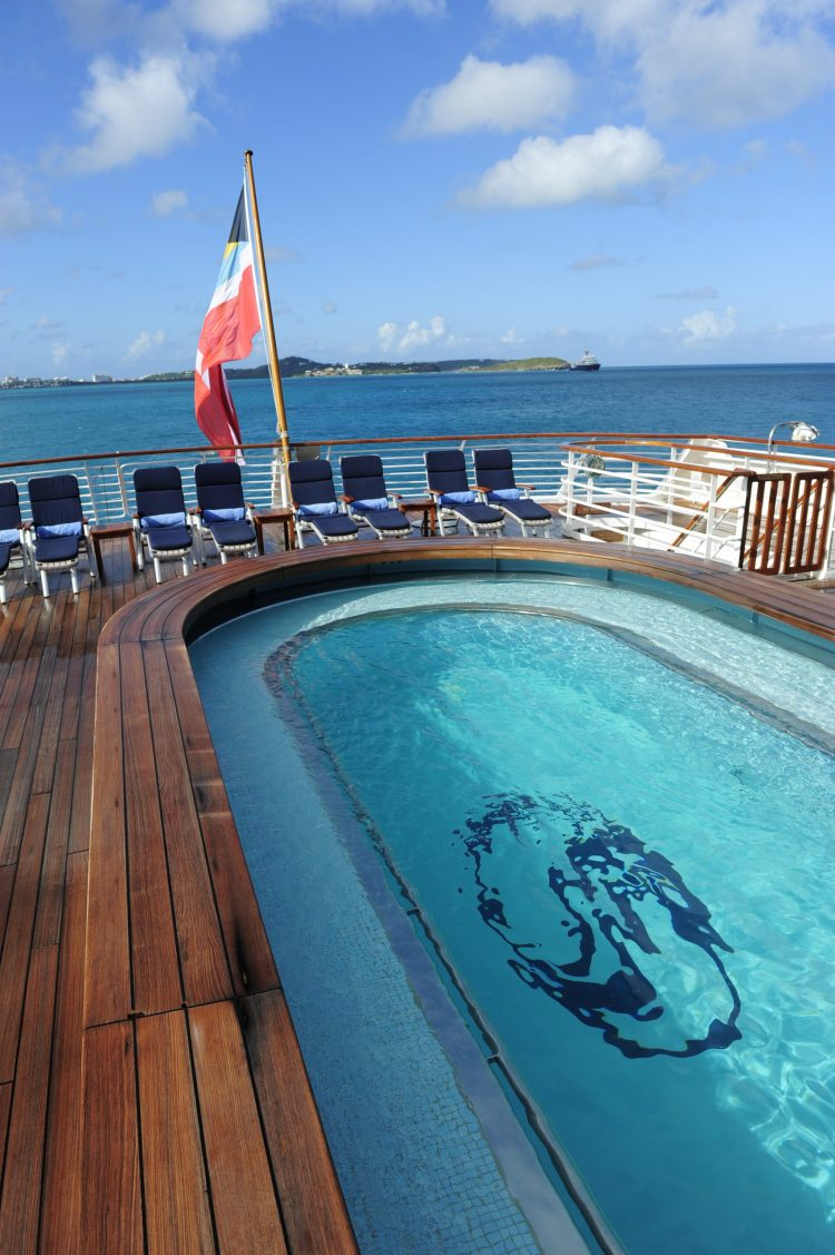 SeaDream Yacht Club ship pool deck