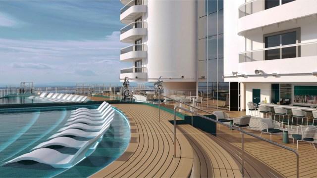 MSC Cruises Seashore cruise ship infinity pool and deck