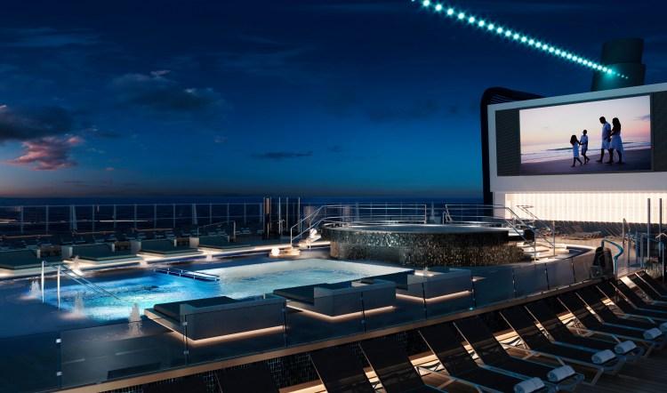 MSC Cruise Seashore cruise ship main pool