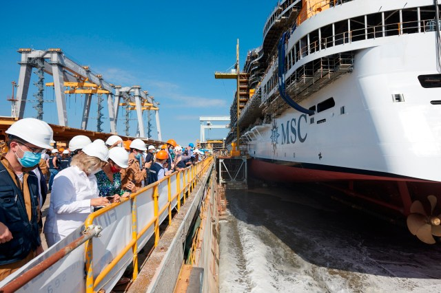msc cruises seashore cruise cruiseship ship newship genoa italty
