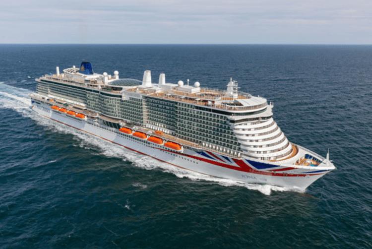 P&O Cruises Iona aerial exterior