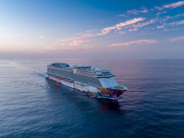 dream cruises world dream aerial bow