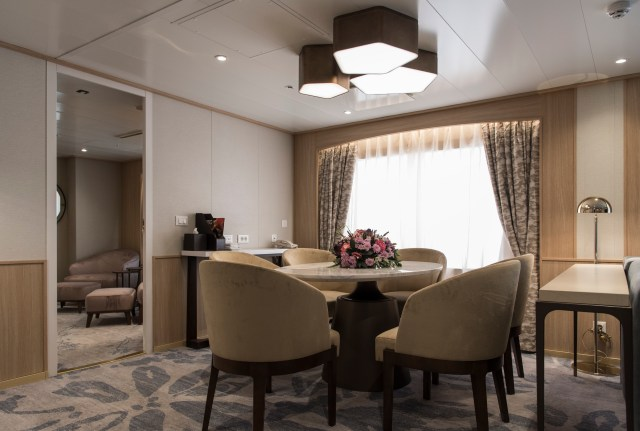 The new owner's suite aboard Windstar Star Breeze.