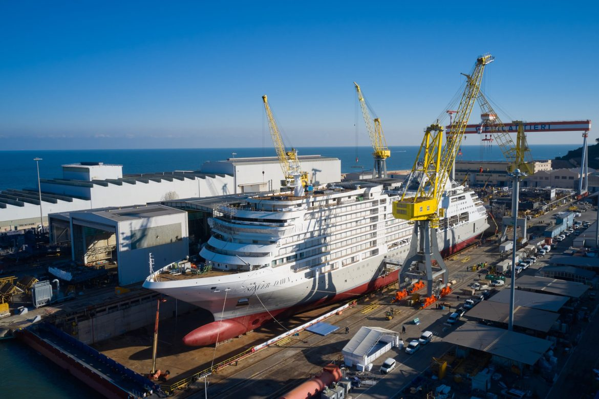 Silversea Cruises' new ship Silver Dawn floats out