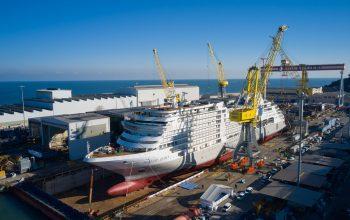 Silversea Cruises Silver Dawn Floatout Exterior