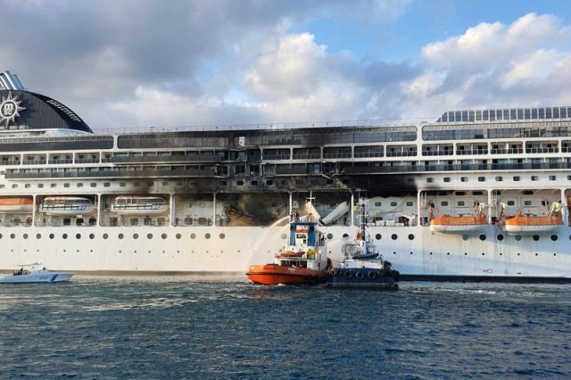 MSC Lirica fire extinguished
